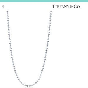 Tiffany & Co Sterling Silver Bead Chain 36in EUC
